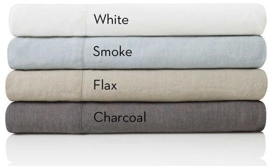 Malouf French Linen CharcoalSplit King Sheet Set