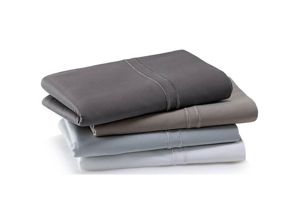 Malouf Supima Cotton CharcoalKing Pillowcase