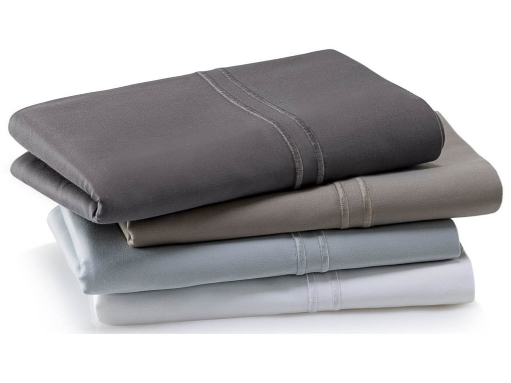 Malouf Supima Cotton WhiteSplit Queen Sheet Set