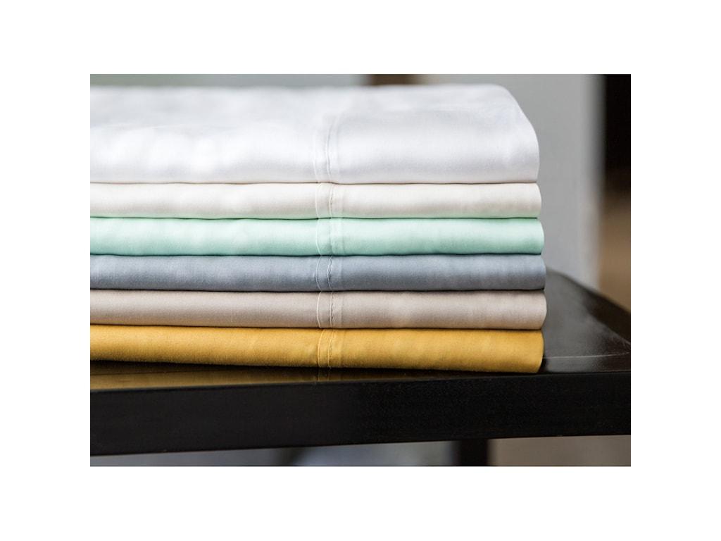 Malouf Tencel WhiteQueen Pillowcases