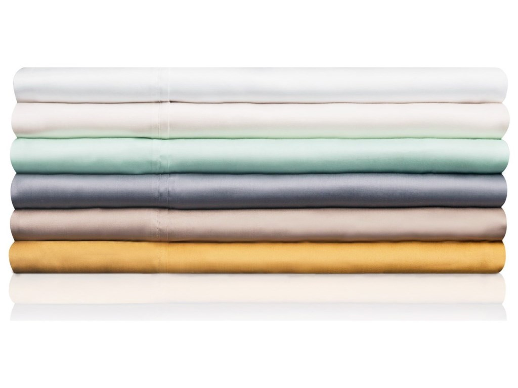 Malouf Tencel IvorySplit Cal King Sheet Set