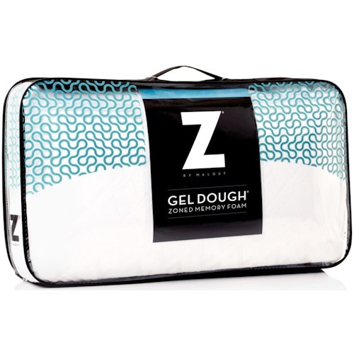 Malouf Zoned Gel Dough Queen Zoned Gel Dough High Loft Pillow