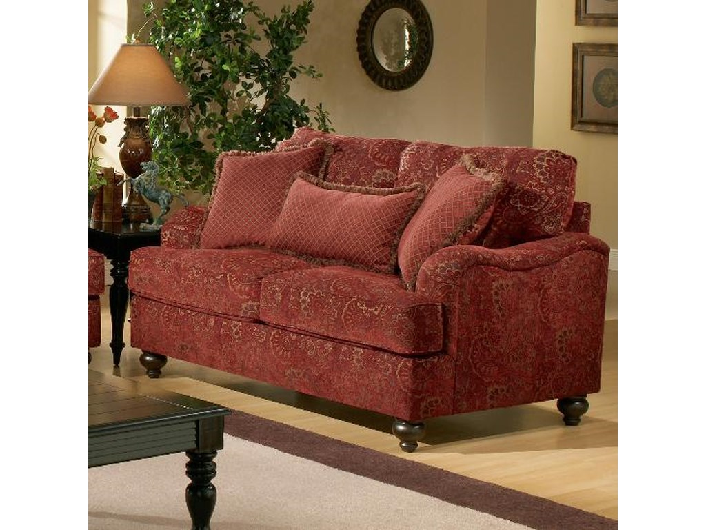 designer fashion a9de8 11ad2 Benchmark Upholstery Carlton Upholstered Loveseat with ...