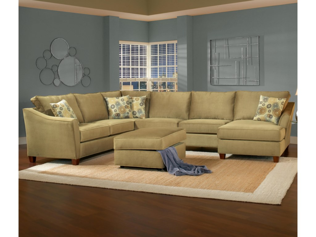 Shown with Storage Ottoman. Sectional Shown May Not Represent Exact Features Indicated.