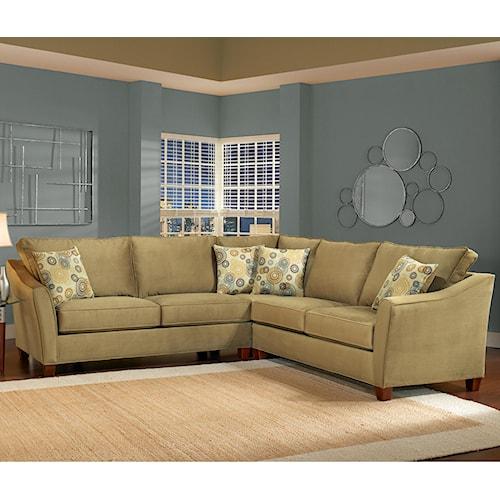 Belfort Essentials Fleetwood Traditional Sectional Sofa