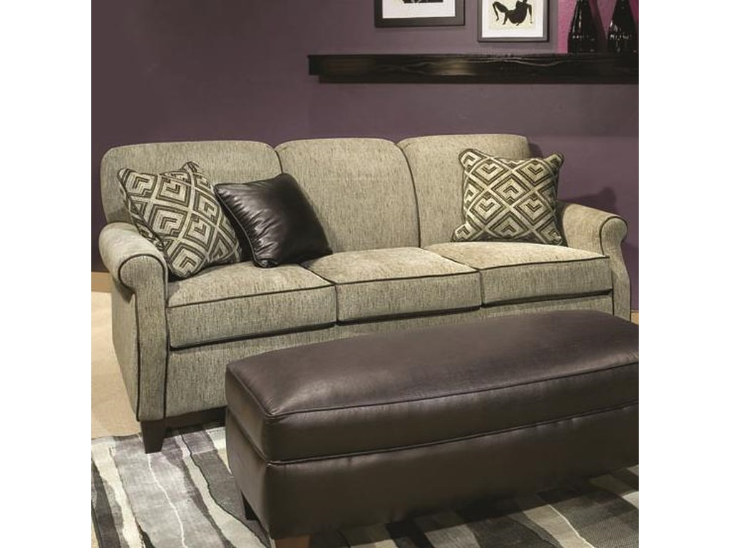 Marshfield Carson Casual Sofa With Rolled Arms Conlin S Furniture