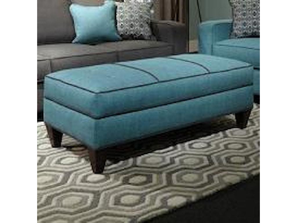 Marshfield Central Avenue Casual Modern Jumbo Storage Ottoman Conlin S Furniture Ottoman