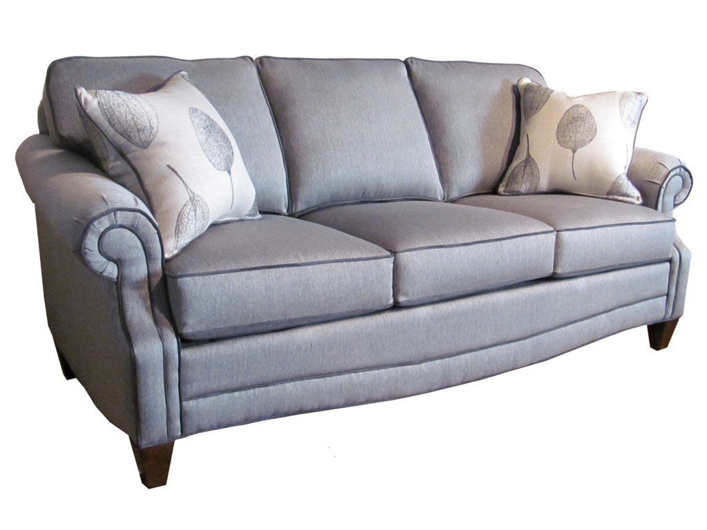 Marshfield Finley Transitional Sofa With Rolled Arms Conlin S