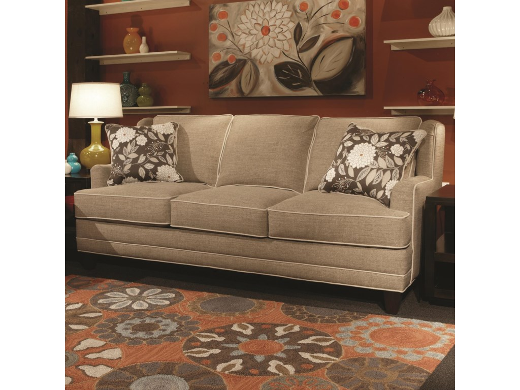 Marshfield Tanner Contemporary Sofa With Track Arms Saugerties