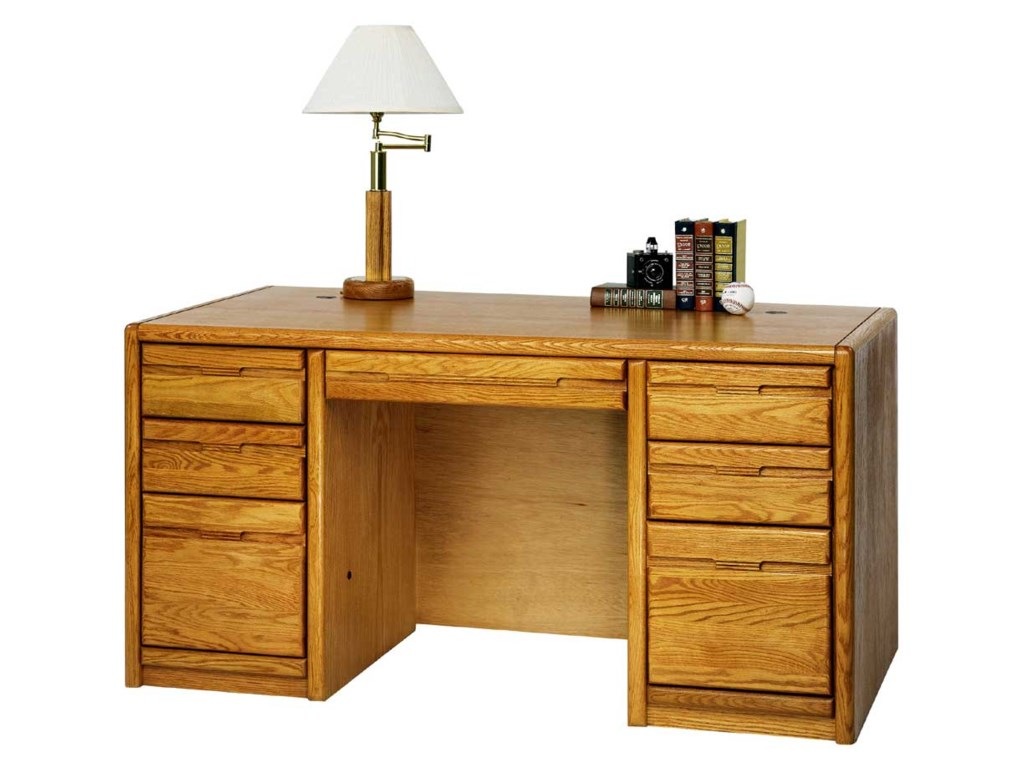 kathy ireland Home by Martin Contemporary 60'' Double Pedestal Desk