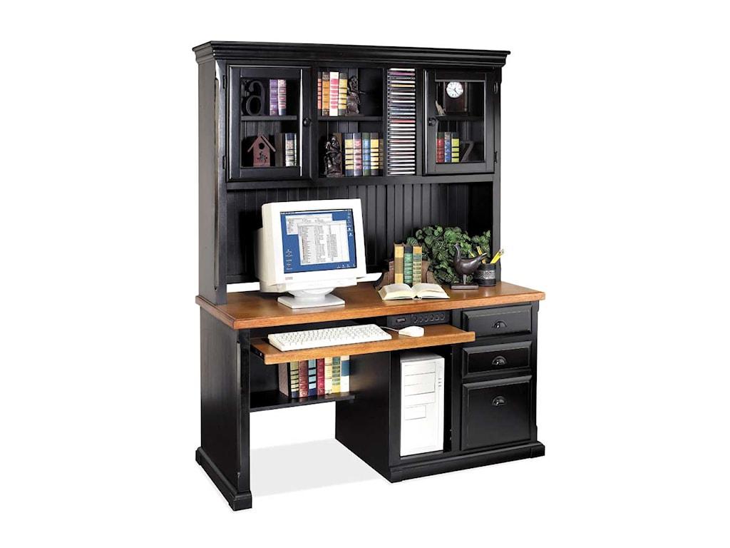 kathy ireland Home by Martin SouthamptonSingle Pedestal Computer Desk