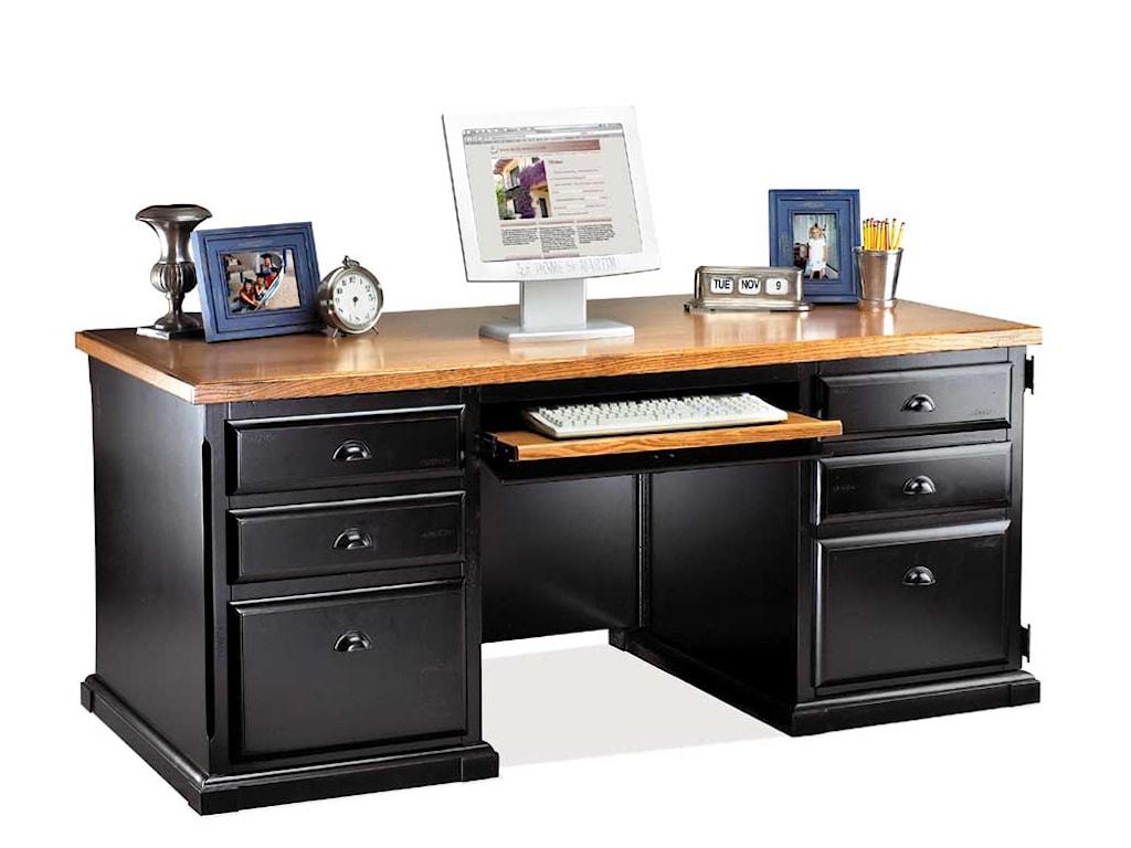 kathy ireland Home by Martin SouthamptonDouble Pedestal Computer Desk
