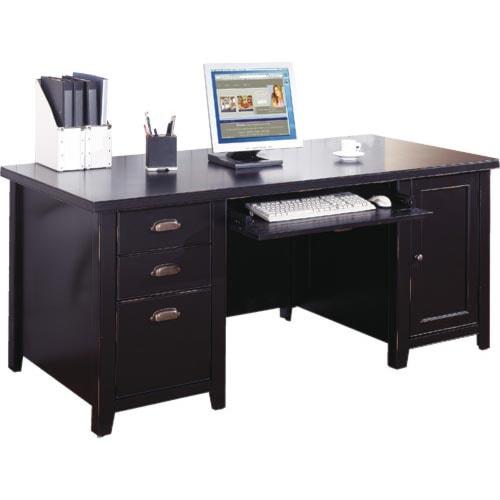 kathy ireland Home by Martin Tribeca Loft Double Pedestal Computer Desk
