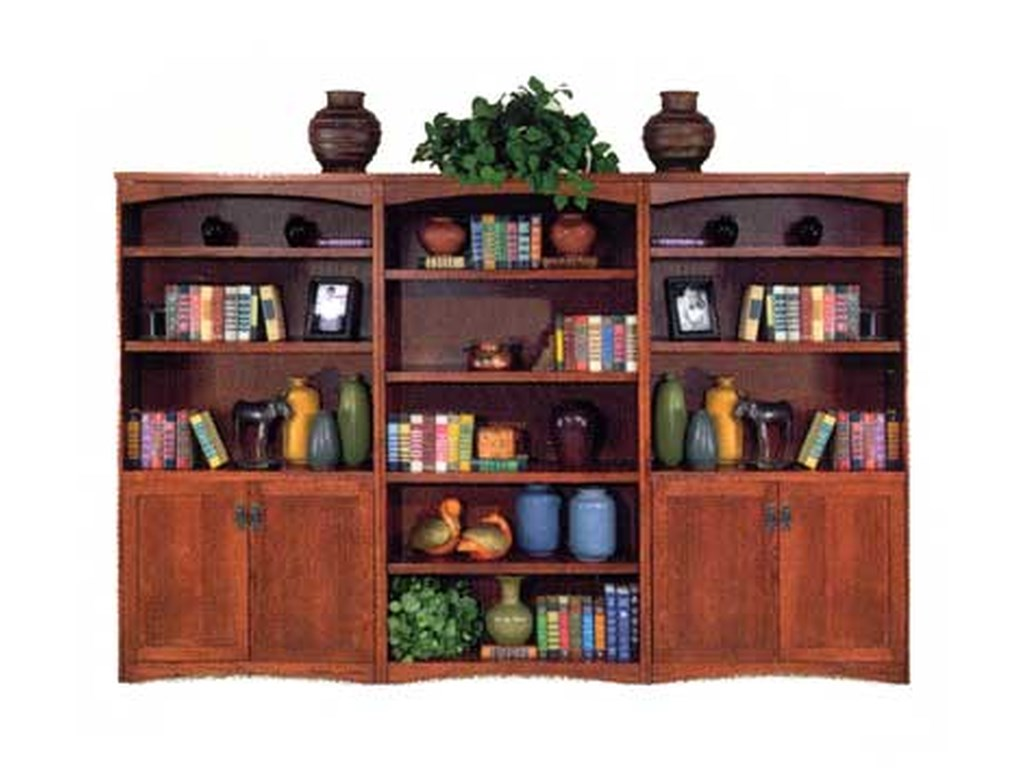 kathy ireland Home by Martin California BungalowBookcase Library Wall