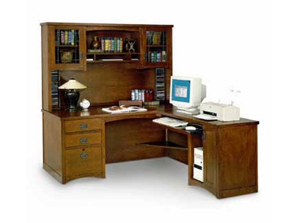 kathy ireland Home by Martin California BungalowExecutive Desk with Return and Hutch