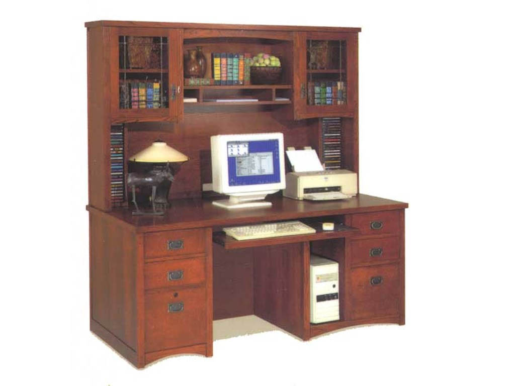 kathy ireland Home by Martin California BungalowDeluxe Desk and Hutch