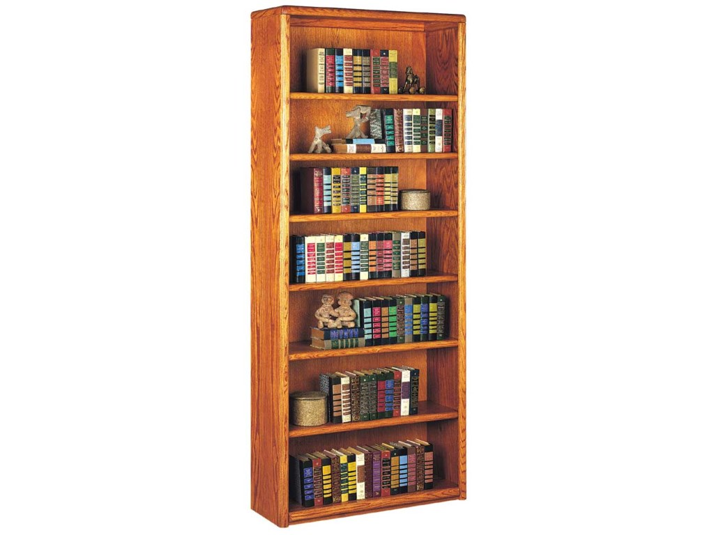 kathy ireland Home by Martin Contemporary Bookcase with 7 Shelves