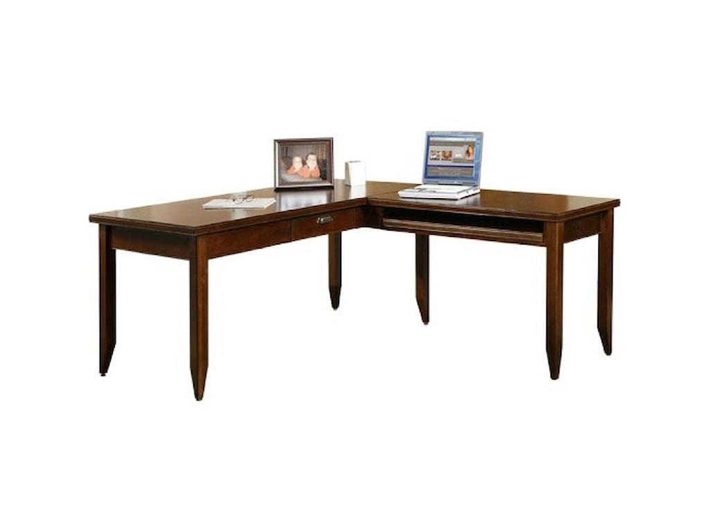 kathy ireland Home by Martin Tribeca LoftL-Shaped Writing Desk & Return