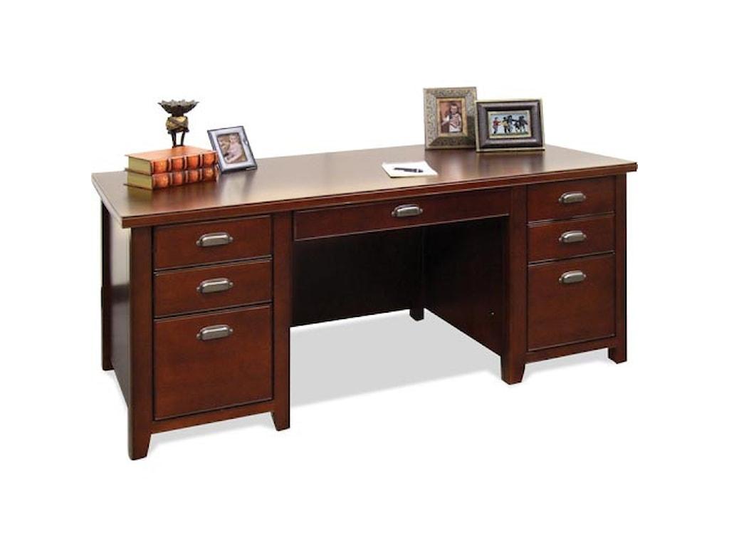 kathy ireland Home by Martin Tribeca LoftDouble Pedestal Executive Desk