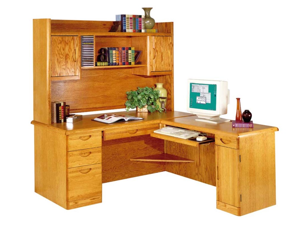kathy ireland Home by Martin WaterfallL-Shaped Desk and Hutch with Return