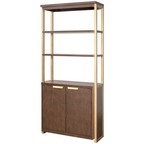 Martin Axis Lower Door Bookcase with Bronze Metal Framework