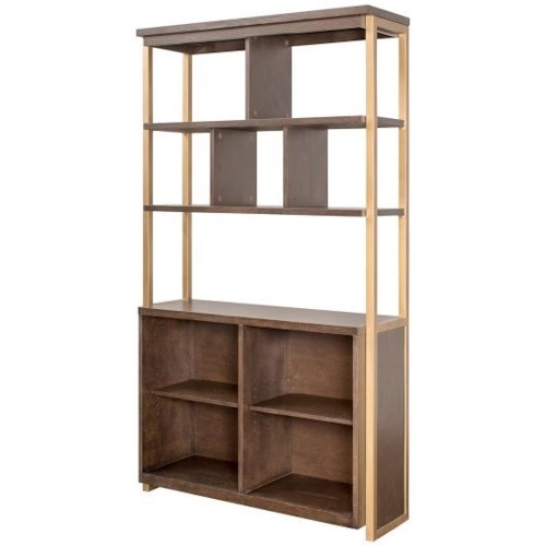 Martin Axis Display Bookcase with 4 Fixed Shelves