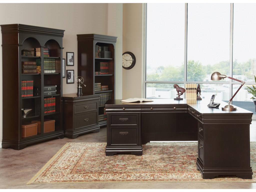Martin Home Furnishings BeaumontDouble Open Bookcase