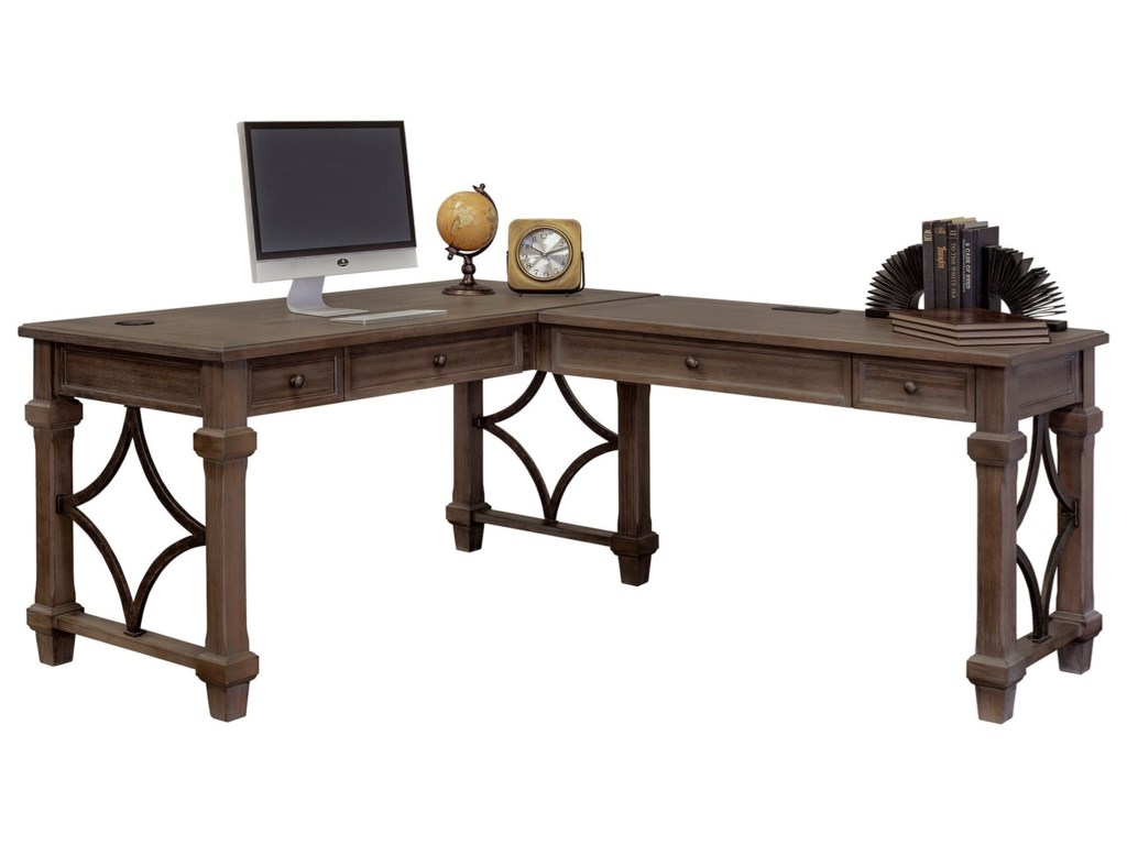 Martin Home Furnishings CarsonOpen L-Shaped Desk
