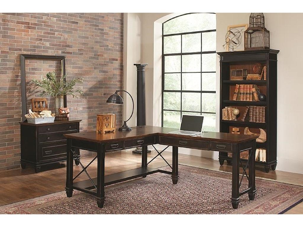 Martin Home Furnishings HartfordL Desk With Right Return
