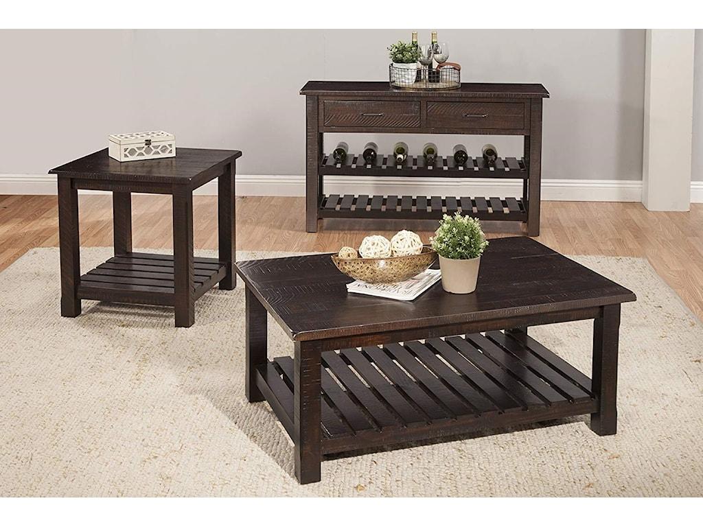 Martin Svensson Home Hillsboro Occasional TablesRustic Espresso Sofa/Console Table