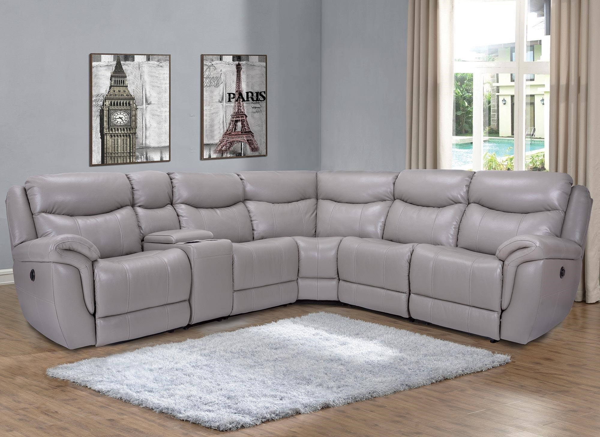 Trieste 6pc Power Reclining Leather Sectional