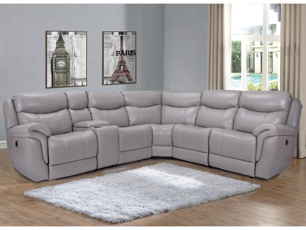 Trieste 6PC Power Reclining Leather Sectional by Marzilli International at  Rotmans