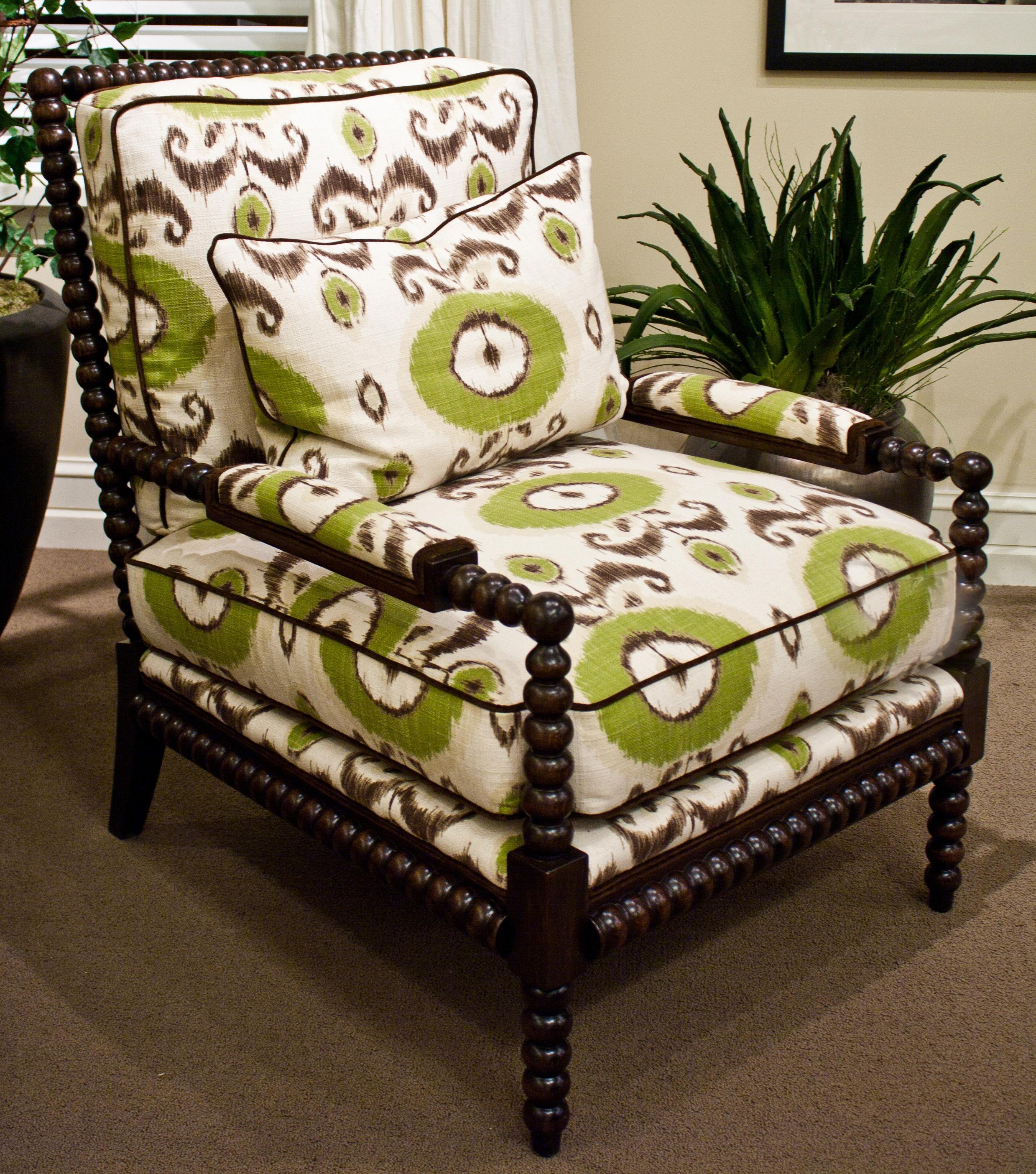 Massoud Massoud Chairs Exposed Turned Wood Arm Chair
