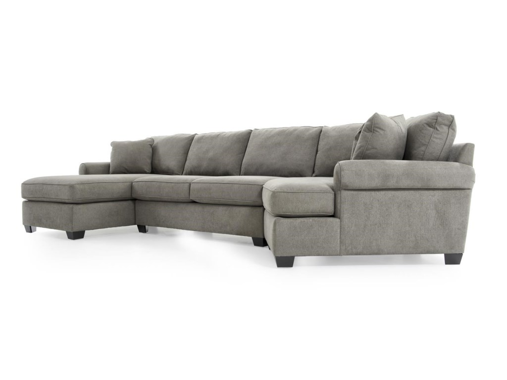 Max Home Jessica3 Pc Sectional Sofa