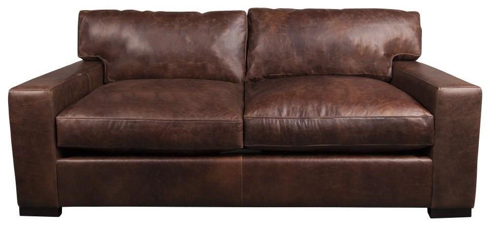 Aiden U0026 Blair QuinlanQuinlan 100% Leather Apartment Sofa ...
