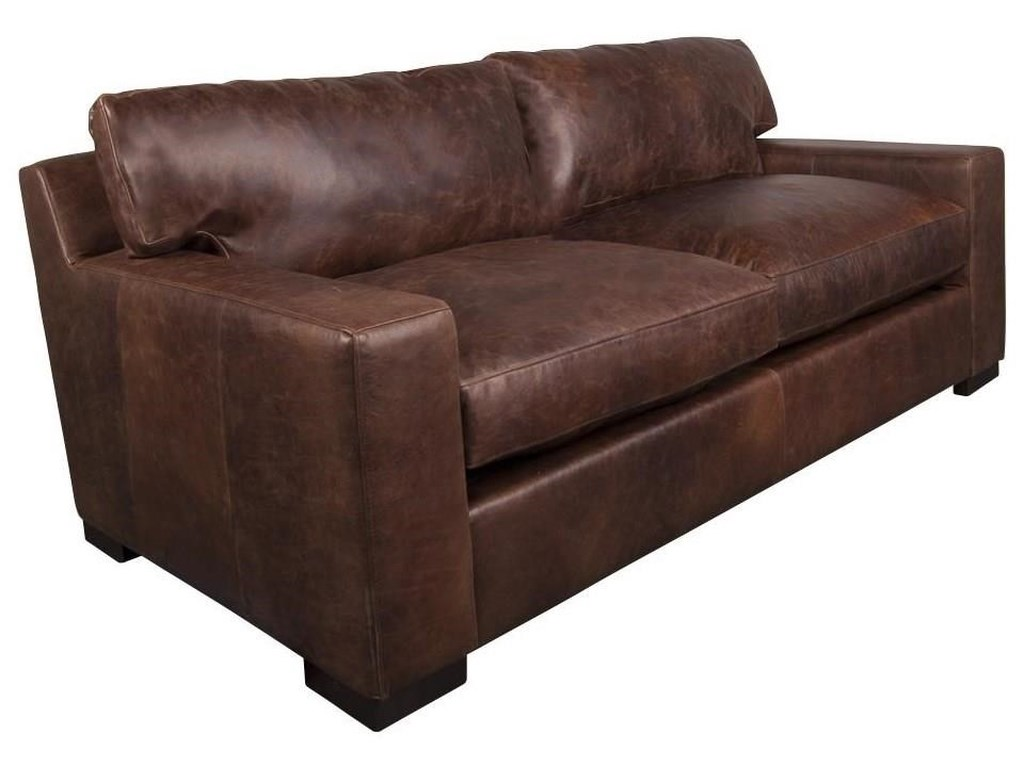 Quinlan 100% Leather Apartment Sofa by Aiden & Blair at Morris Home