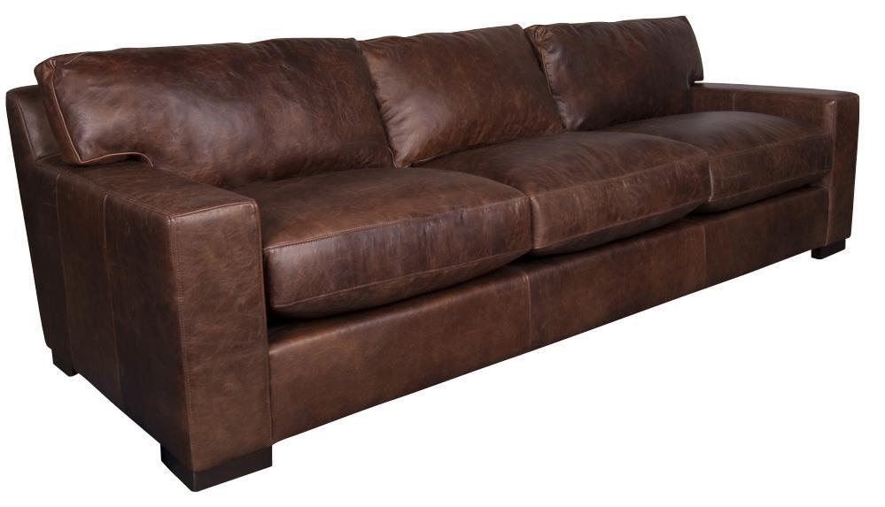 ... Aiden U0026 Blair QuinlanQuinlan 100% Leather XXL Sofa ...