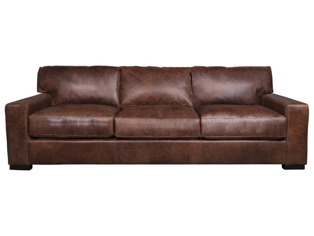 Aiden & Blair Quinlan XXL 100% Leather Sofa | Morris Home | Sofas