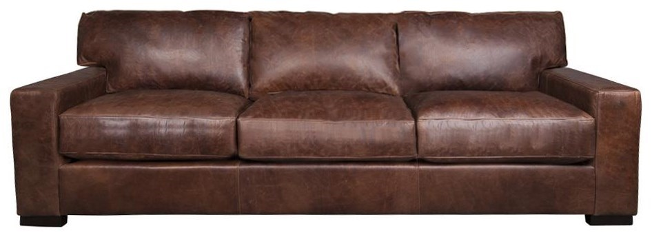 Aiden U0026 Blair QuinlanQuinlan 100% Leather XXL Sofa ...