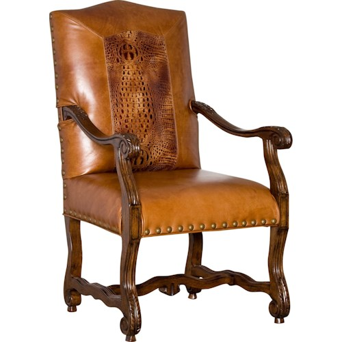 Mayo 106 Traditional Upholstered Chair with Exposed Wood