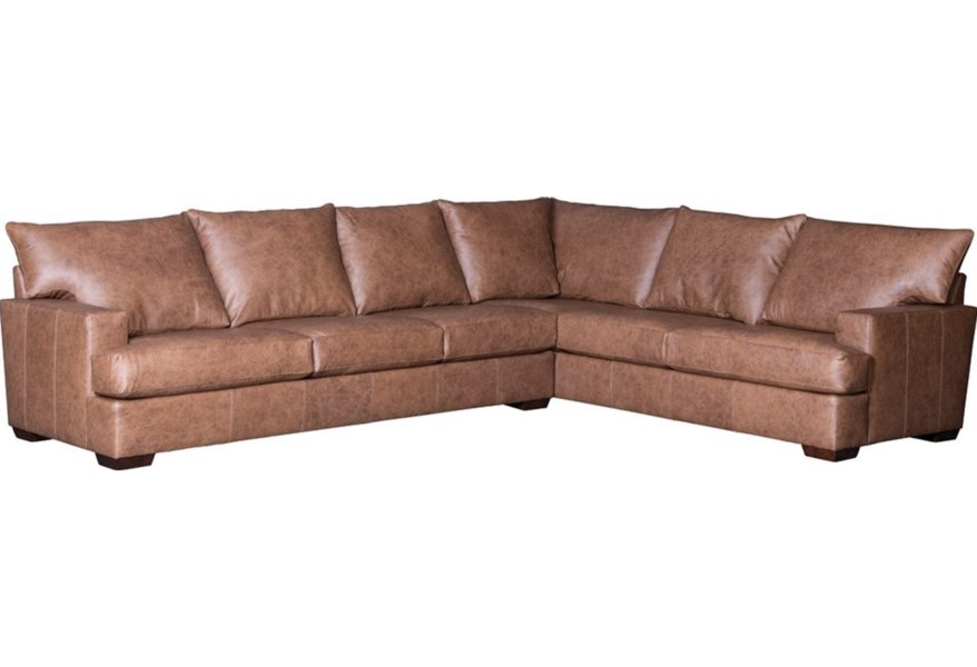 Mayo 2100 Casual Sectional Sofa With Track Arms Wilson S Furniture Sectional Sofas