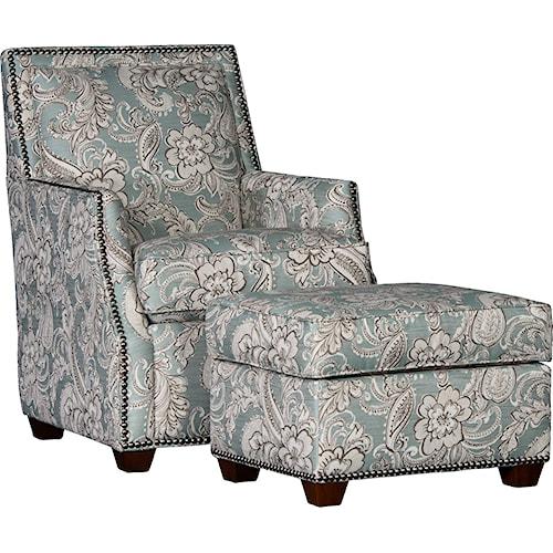 Mayo 2325 Chair & Ottoman Set w/ Nailhead Trim