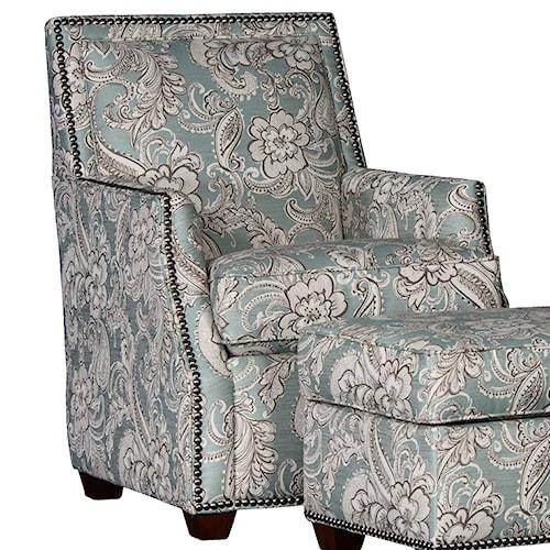 Mayo 2325 Lounge Chair with Nailhead Trim
