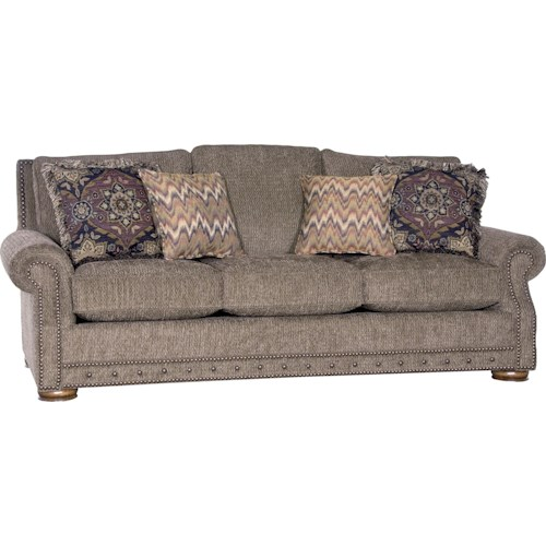 Mayo 2900 Rolled Arm Sofa w/ Nailhead Trim