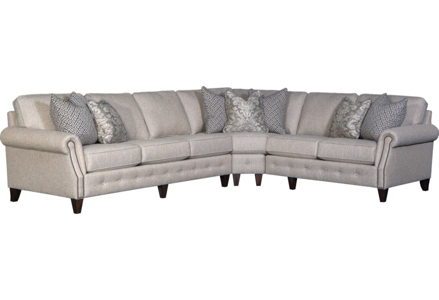 Mayo 4040 Transitional 5-Seat Sectional Sofa with LAF Sofa ...