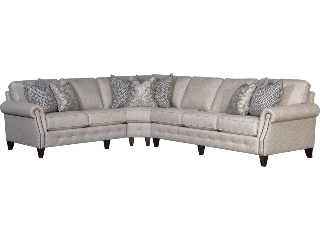 Mayo 4040 Transitional 5-Seat Sectional Sofa with RAF Sofa | Pedigo ...