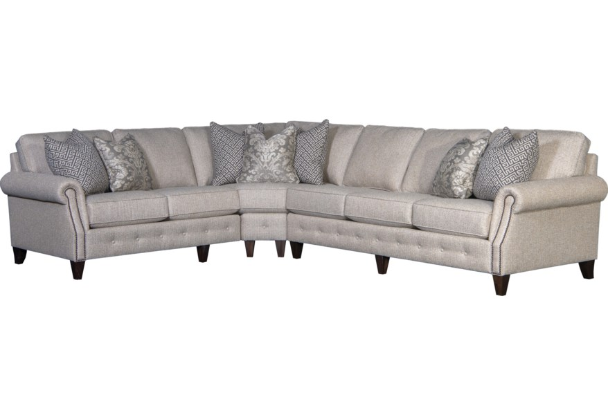 Mayo 4040 Transitional 5-Seat Sectional Sofa with RAF Sofa ...