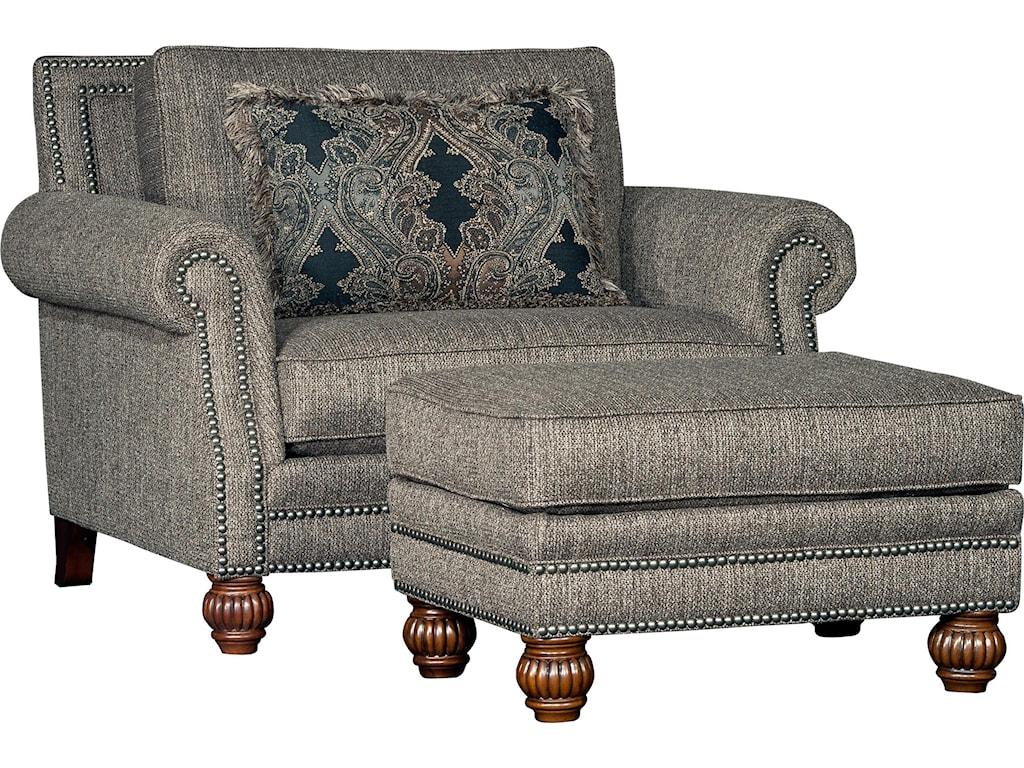 Mayo 4300 MayoTraditional Chair and Ottoman Set