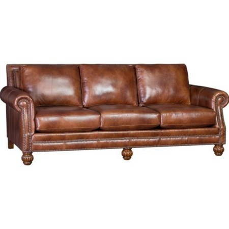Traditional Leather Sofa
