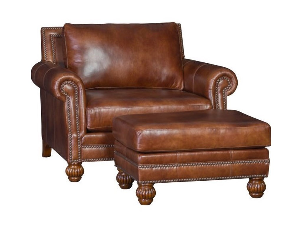 Mayo 4300 MayoTraditional Chair and Ottoman Set